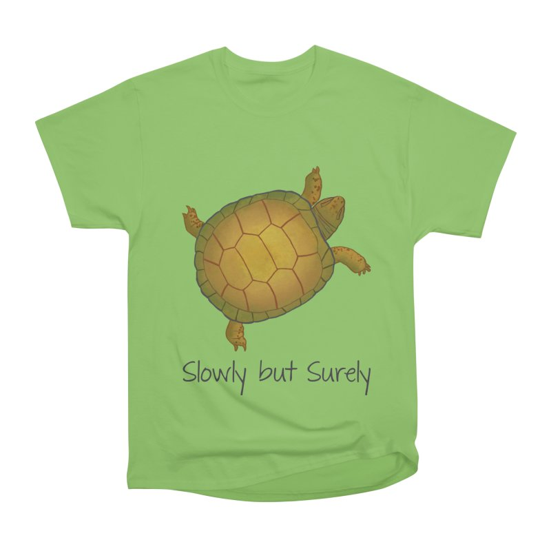 Turtle - Slowly but Surely - Lazy Animals Men's Heavyweight T-Shirt by Beatrizxe