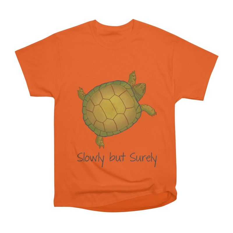 Turtle - Slowly but Surely - Lazy Animals Women's Heavyweight Unisex T-Shirt by Beatrizxe