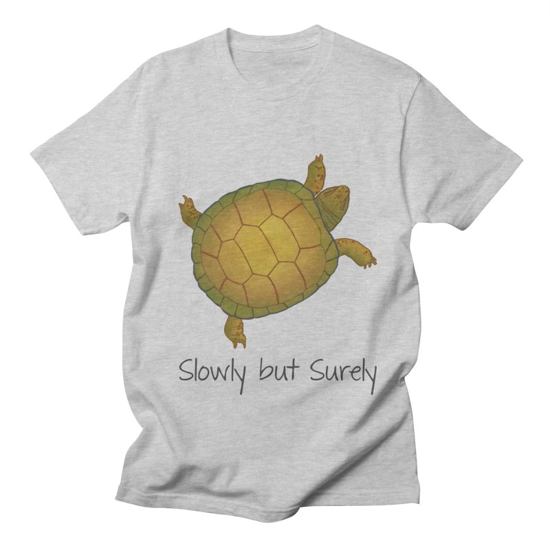 Turtle - Slowly but Surely - Lazy Animals Men's T-Shirt by Beatrizxe