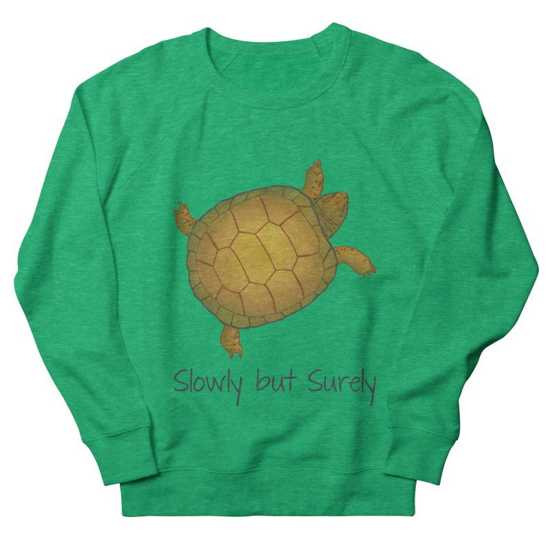 Turtle - Slowly but Surely - Lazy Animals Women's French Terry Sweatshirt by Beatrizxe