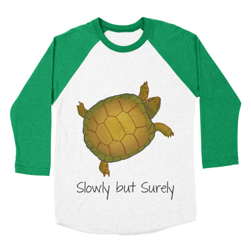 Turtle - Slowly but Surely - Lazy Animals Women's Baseball Triblend T-Shirt by Beatrizxe