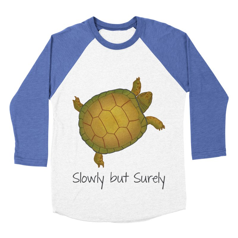 Turtle - Slowly but Surely - Lazy Animals Men's Baseball Triblend T-Shirt by Beatrizxe