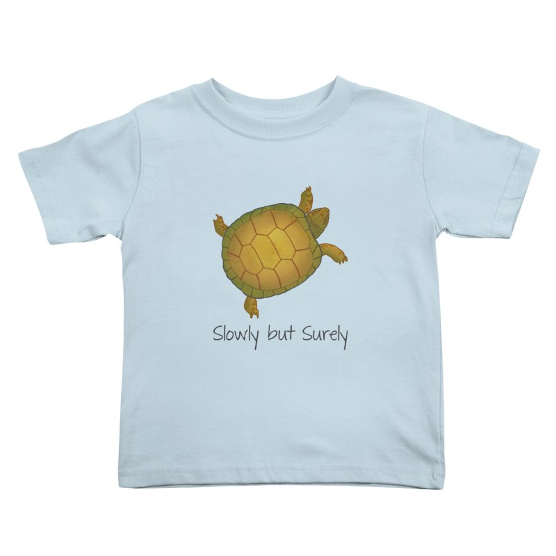Turtle - Slowly but Surely - Lazy Animals Kids Toddler T-Shirt by Beatrizxe