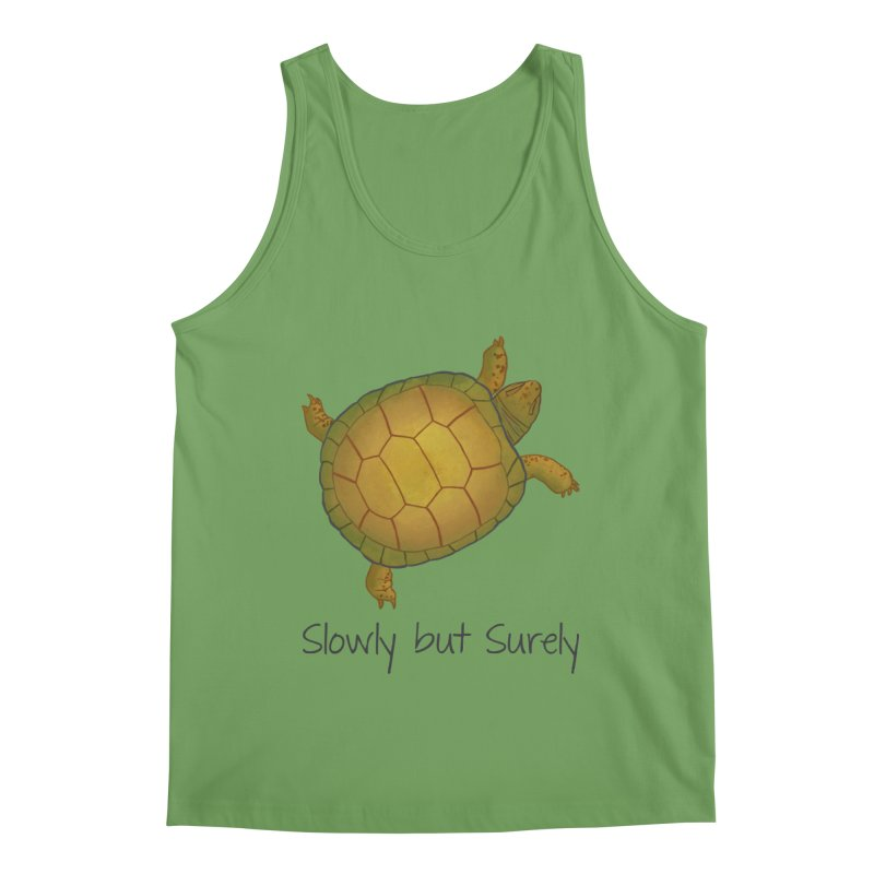 Turtle - Slowly but Surely - Lazy Animals Men's Tank by Beatrizxe