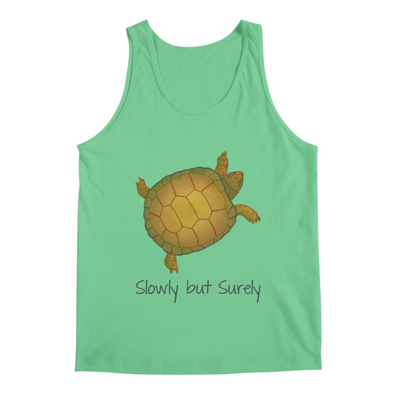 Turtle - Slowly but Surely - Lazy Animals Men's Regular Tank by Beatrizxe