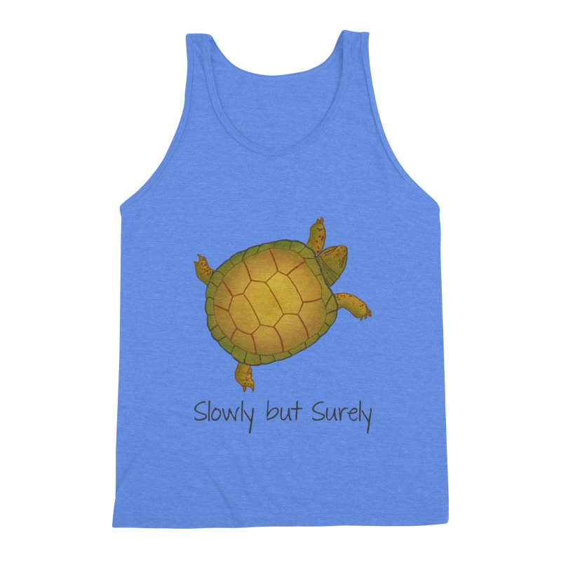 Turtle - Slowly but Surely - Lazy Animals Men's Triblend Tank by Beatrizxe