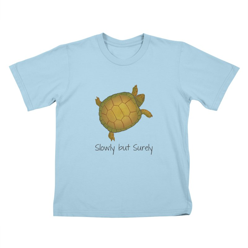 Turtle - Slowly but Surely - Lazy Animals Kids T-Shirt by Beatrizxe