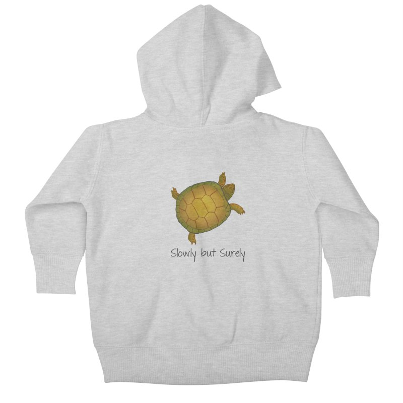 Turtle - Slowly but Surely - Lazy Animals Kids Baby Zip-Up Hoody by Beatrizxe