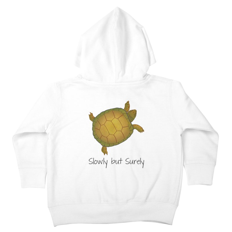Turtle - Slowly but Surely - Lazy Animals Kids Toddler Zip-Up Hoody by Beatrizxe
