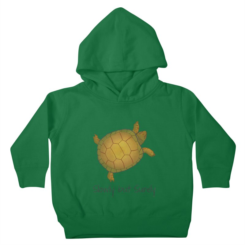 Turtle - Slowly but Surely - Lazy Animals Kids Toddler Pullover Hoody by Beatrizxe