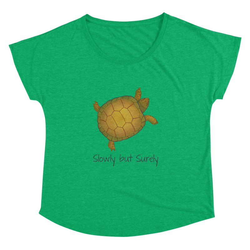 Turtle - Slowly but Surely - Lazy Animals Women's Dolman by Beatrizxe