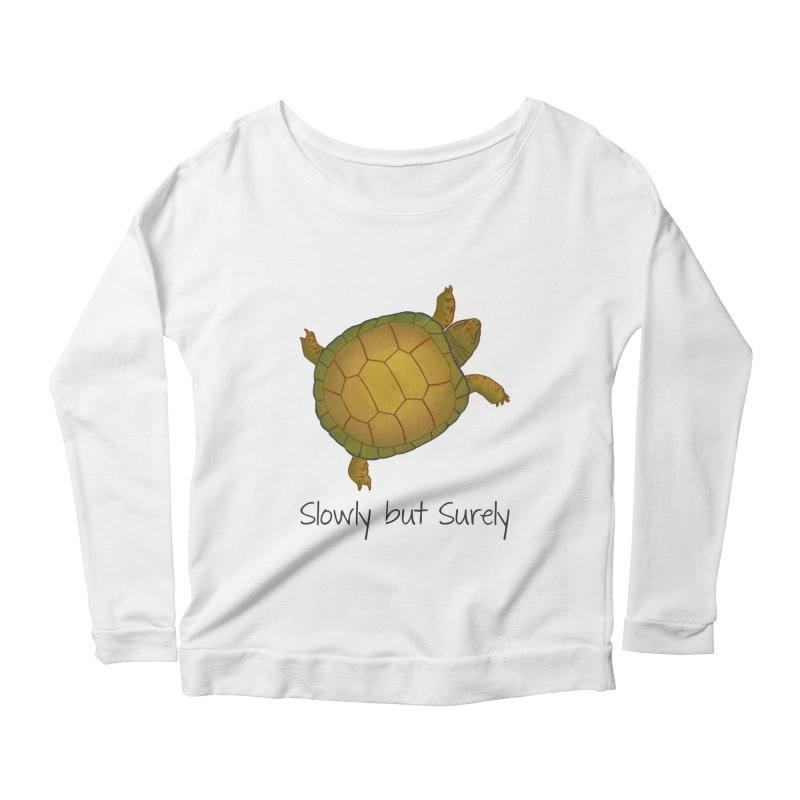 Turtle - Slowly but Surely - Lazy Animals Women's Scoop Neck Longsleeve T-Shirt by Beatrizxe