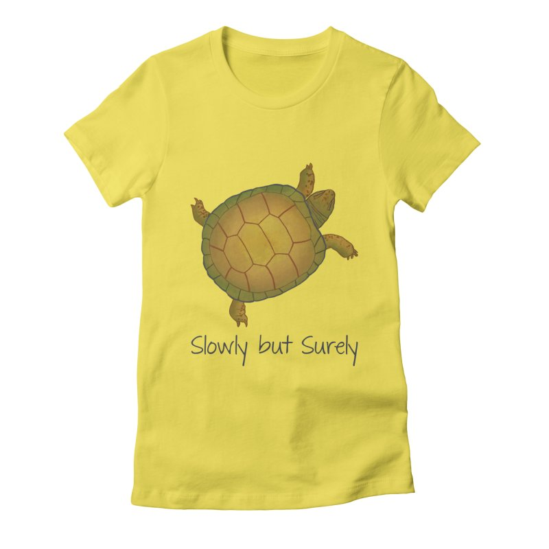 Turtle - Slowly but Surely - Lazy Animals Women's T-Shirt by Beatrizxe