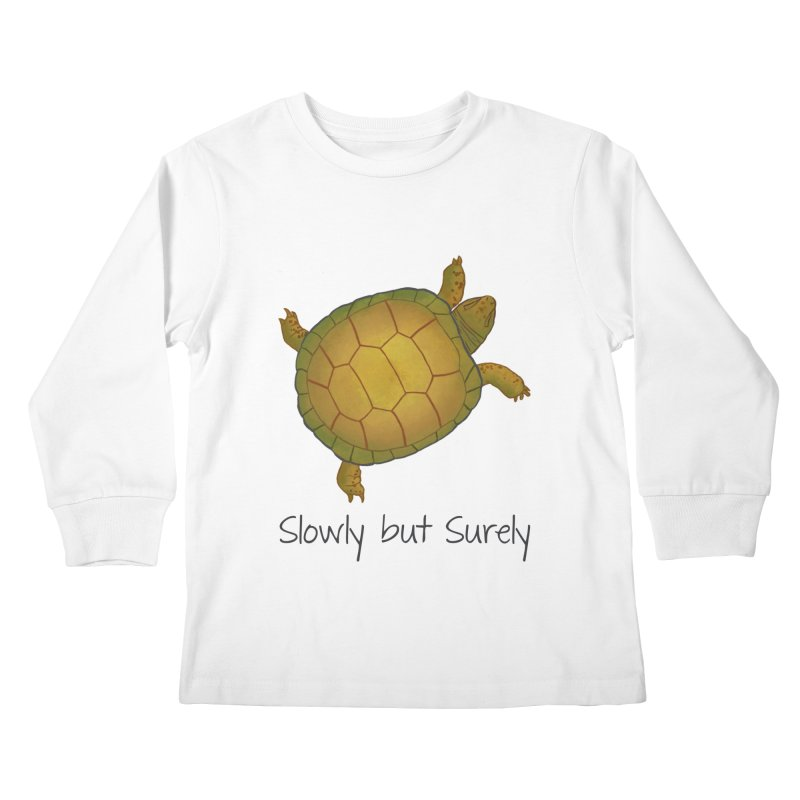 Turtle - Slowly but Surely - Lazy Animals Kids Longsleeve T-Shirt by Beatrizxe