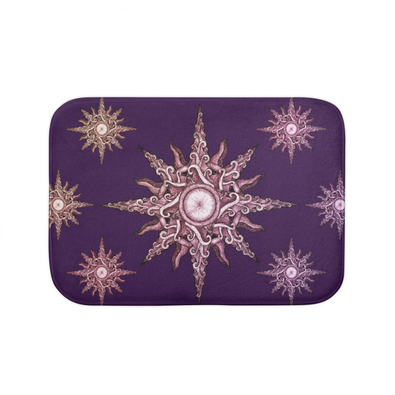 Psychedelic windrose in Bath Mat by Beatrizxe
