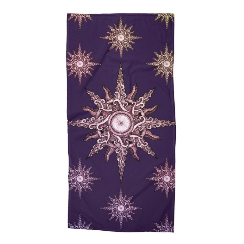 Psychedelic windrose Accessories Beach Towel by Beatrizxe