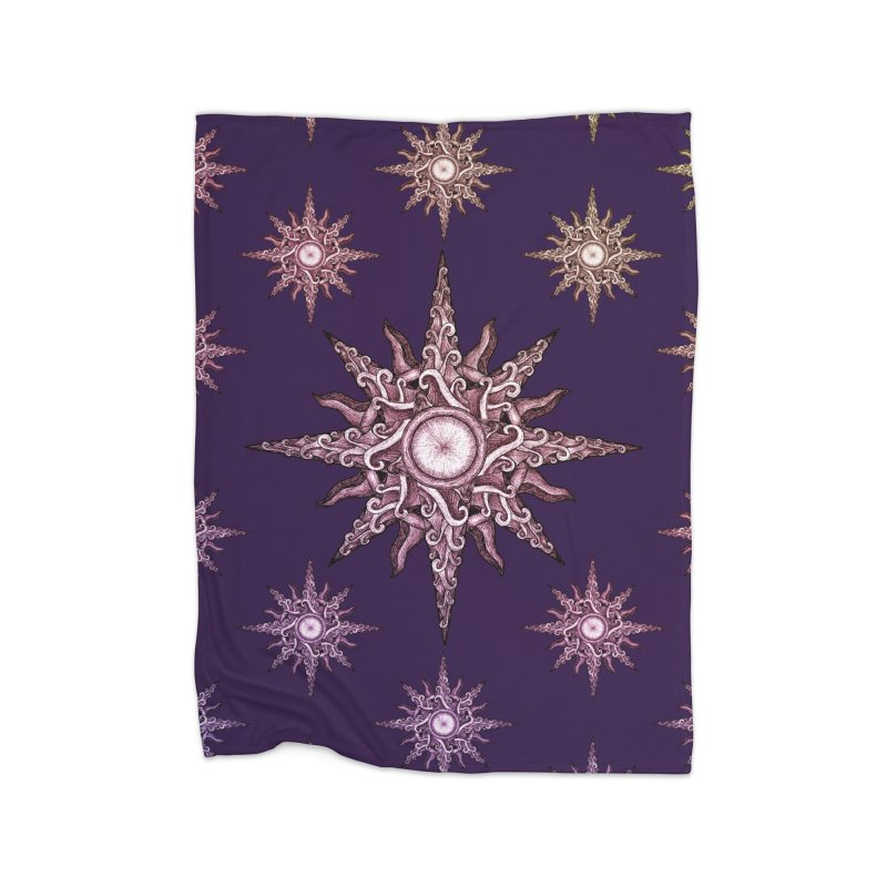 Psychedelic windrose Home Fleece Blanket by Beatrizxe