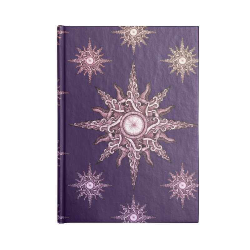 Psychedelic windrose Accessories Lined Journal Notebook by Beatrizxe