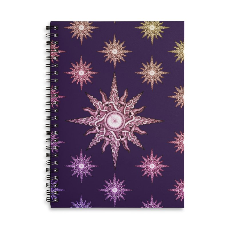 Psychedelic windrose Accessories Lined Spiral Notebook by Beatrizxe