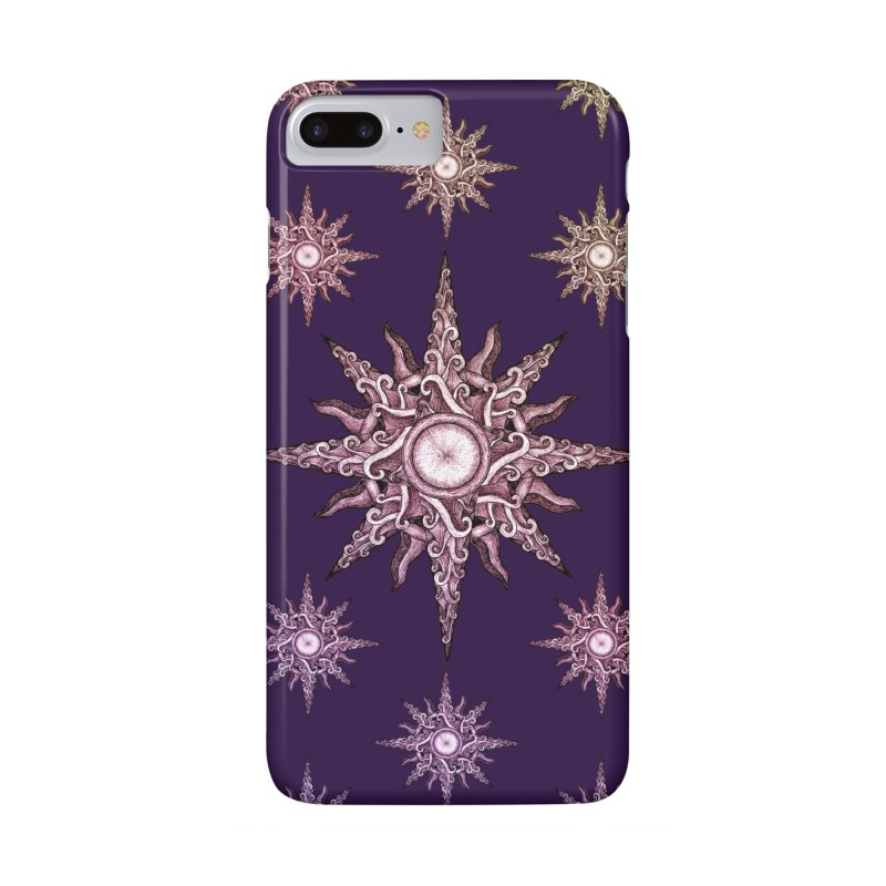Psychedelic windrose in iPhone 7 Plus Phone Case Slim by Beatrizxe
