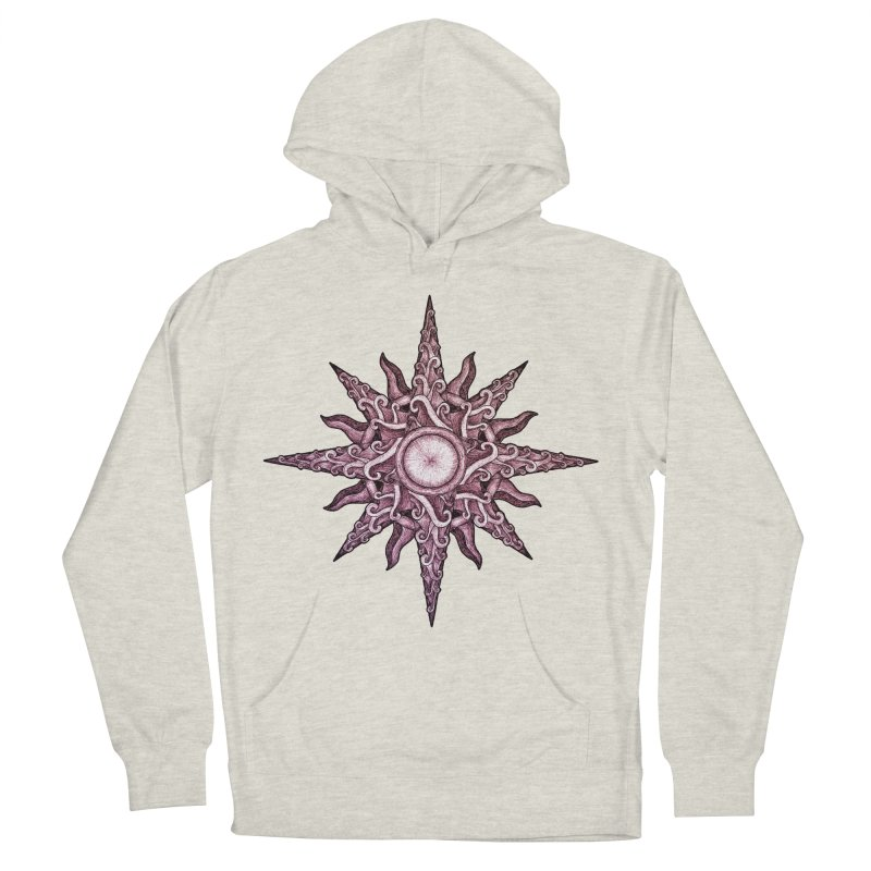 Psychedelic windrose Women's French Terry Pullover Hoody by Beatrizxe