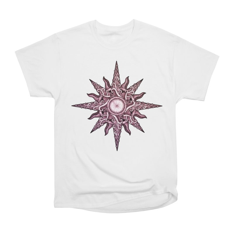 Psychedelic windrose Women's Heavyweight Unisex T-Shirt by Beatrizxe