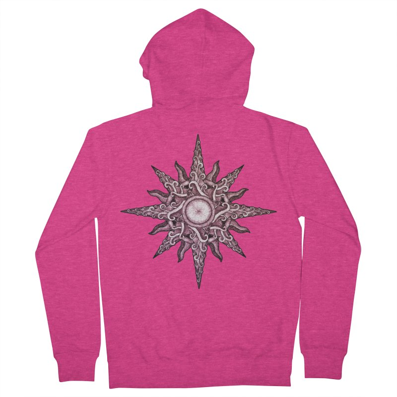 Psychedelic windrose Women's French Terry Zip-Up Hoody by Beatrizxe