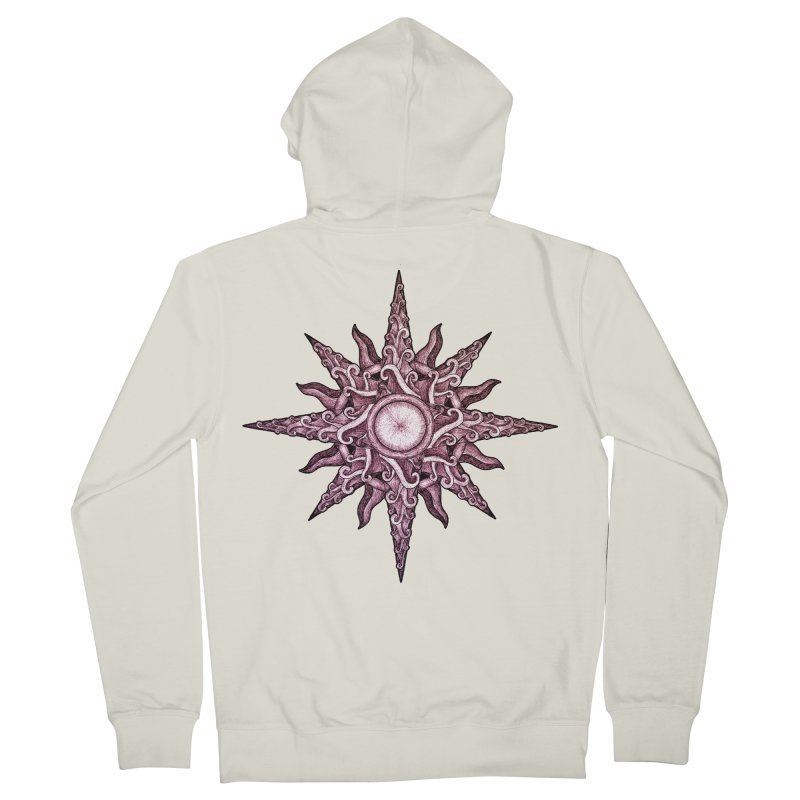 Psychedelic windrose Men's Zip-Up Hoody by Beatrizxe