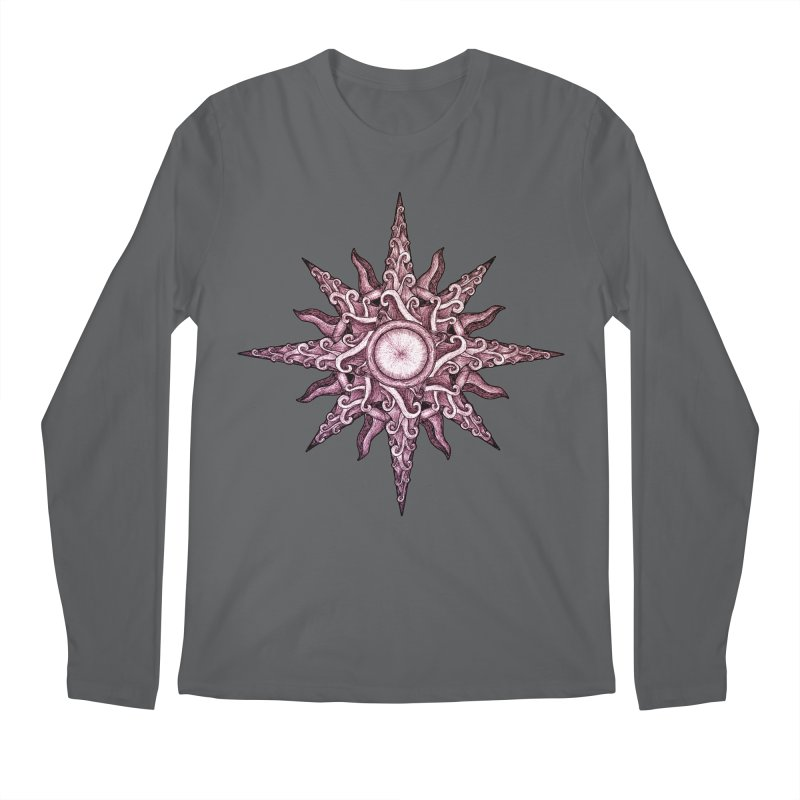 Psychedelic windrose Men's Regular Longsleeve T-Shirt by Beatrizxe