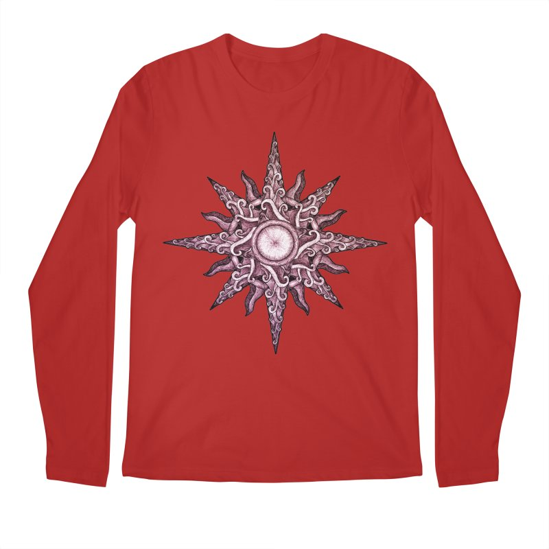 Psychedelic windrose Men's Longsleeve T-Shirt by Beatrizxe