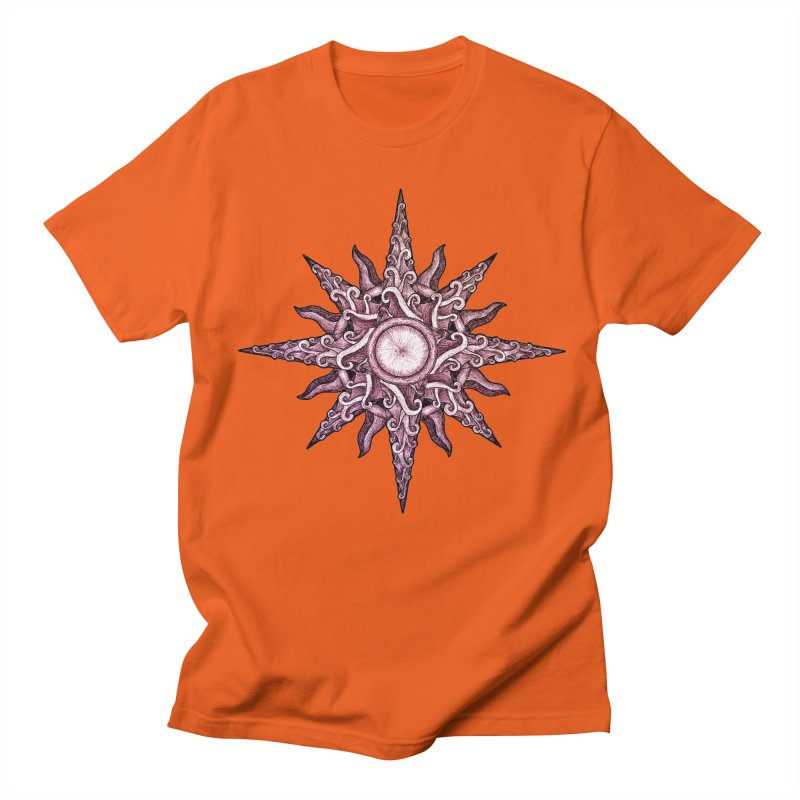 Psychedelic windrose Men's Regular T-Shirt by Beatrizxe