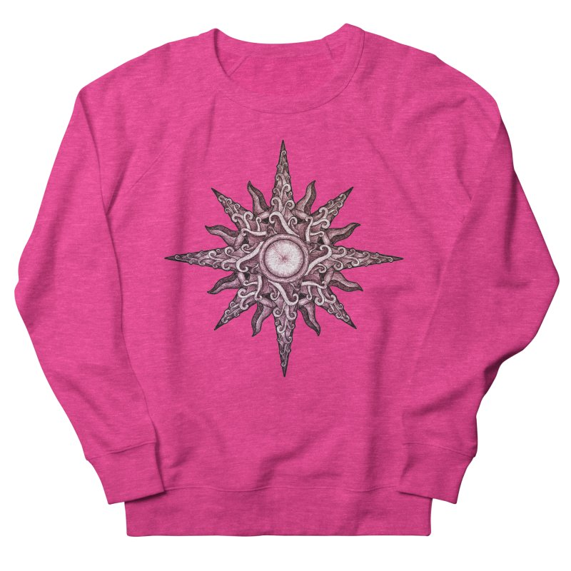 Psychedelic windrose Men's French Terry Sweatshirt by Beatrizxe