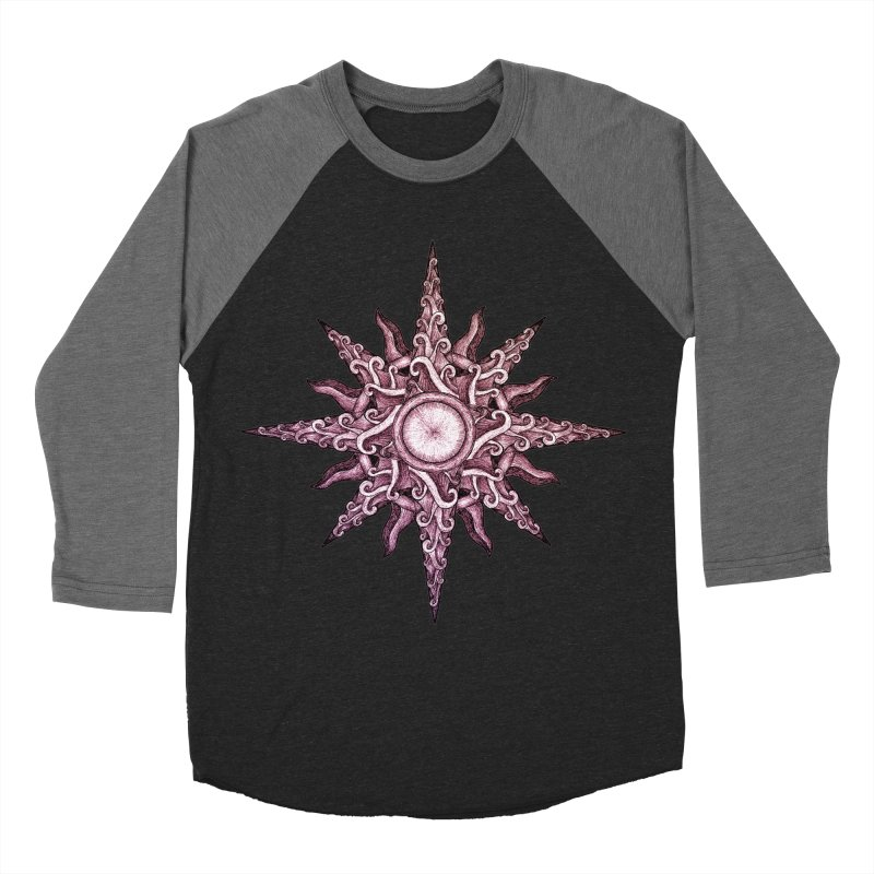 Psychedelic windrose Women's Baseball Triblend Longsleeve T-Shirt by Beatrizxe