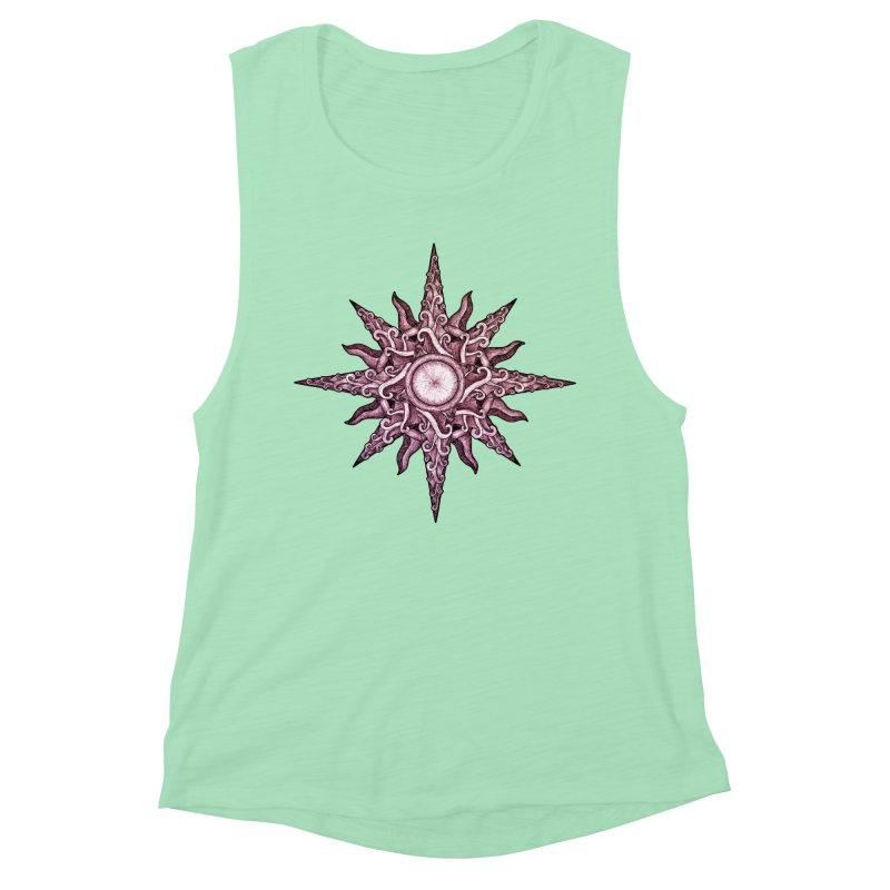 Psychedelic windrose Women's Muscle Tank by Beatrizxe