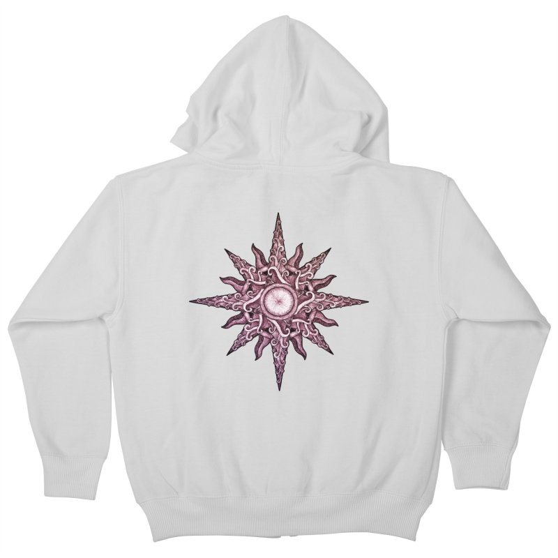 Psychedelic windrose Kids Zip-Up Hoody by Beatrizxe