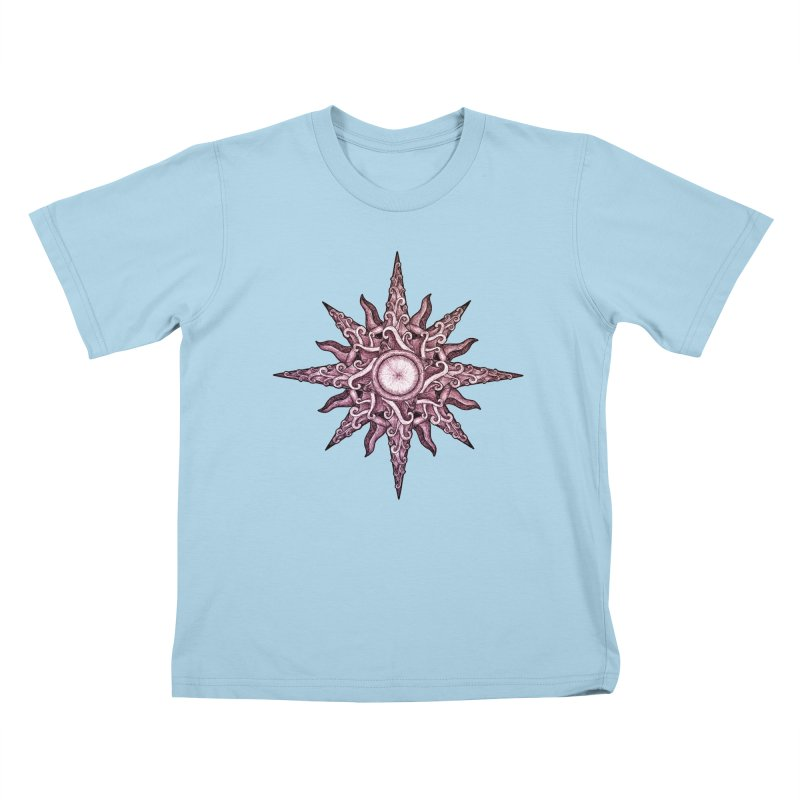 Psychedelic windrose Kids T-Shirt by Beatrizxe