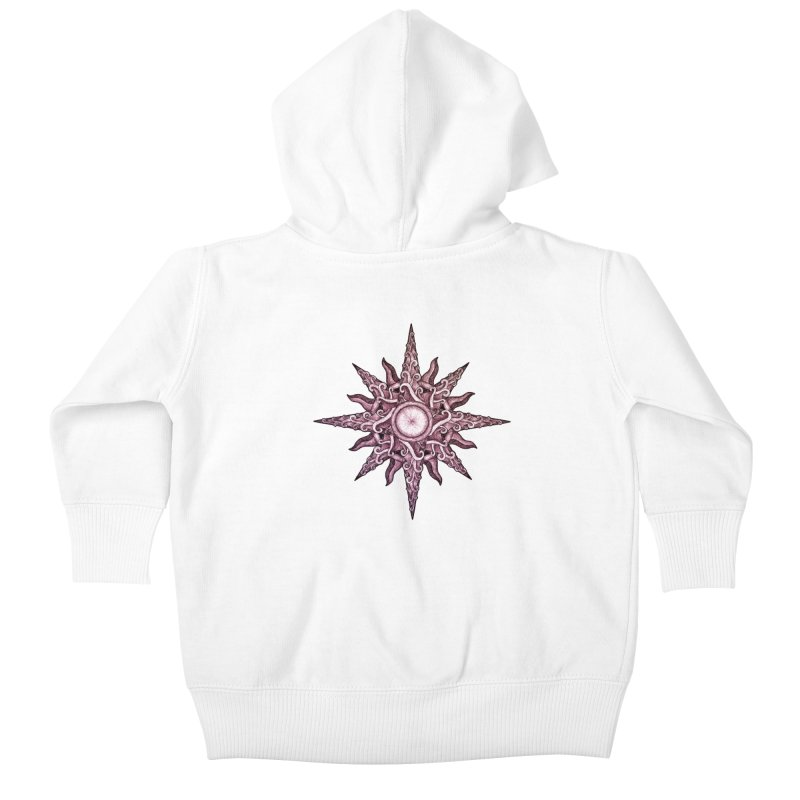 Psychedelic windrose Kids Baby Zip-Up Hoody by Beatrizxe