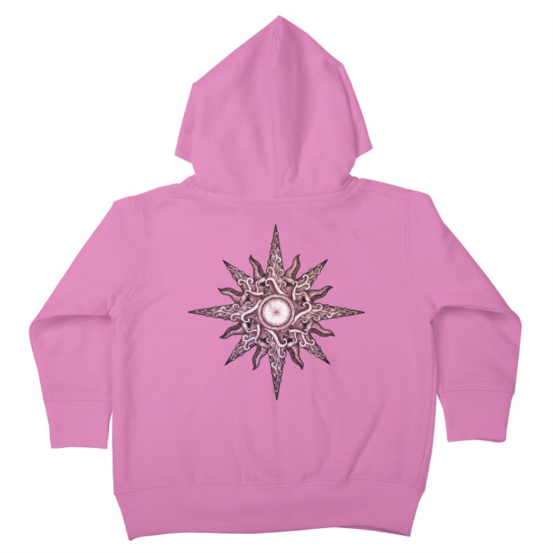 Psychedelic windrose Kids Toddler Zip-Up Hoody by Beatrizxe