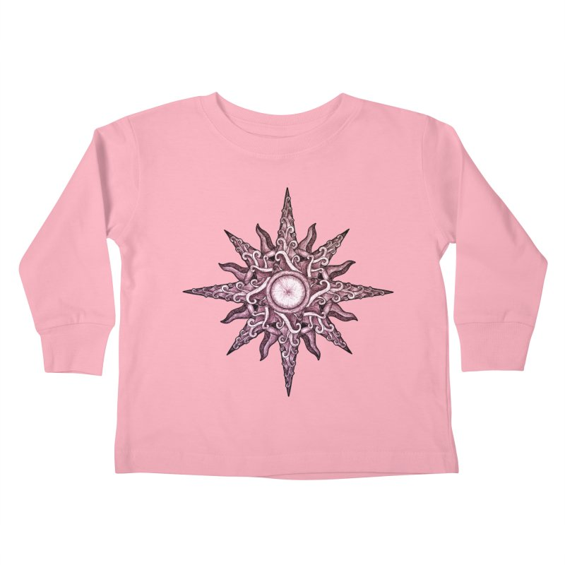 Psychedelic windrose Kids Toddler Longsleeve T-Shirt by Beatrizxe