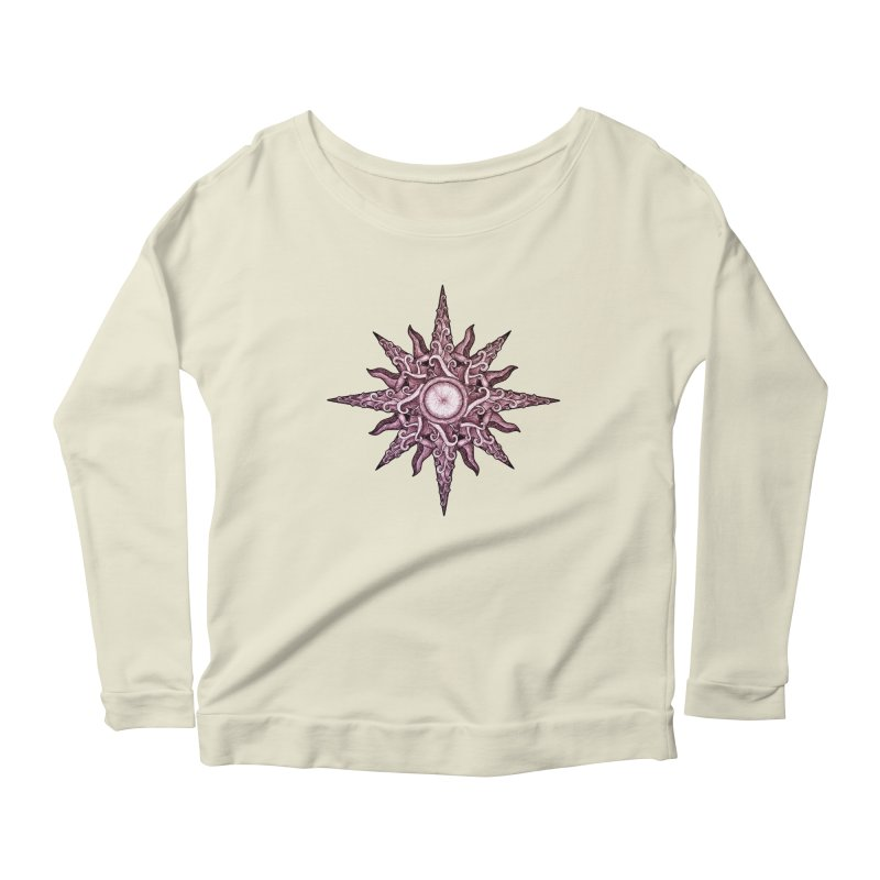 Psychedelic windrose Women's Scoop Neck Longsleeve T-Shirt by Beatrizxe