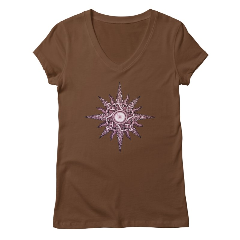 Psychedelic windrose Women's V-Neck by Beatrizxe