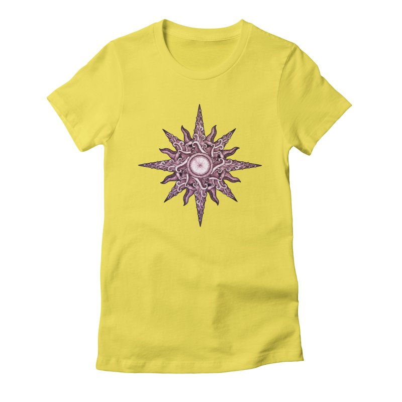 Psychedelic windrose Women's Fitted T-Shirt by Beatrizxe