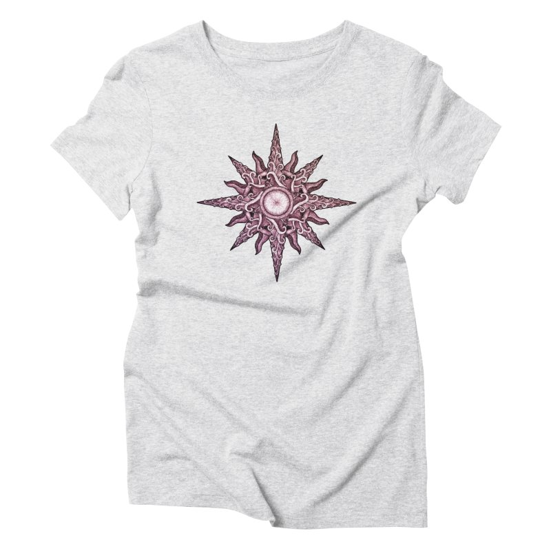 Psychedelic windrose Women's Triblend T-Shirt by Beatrizxe