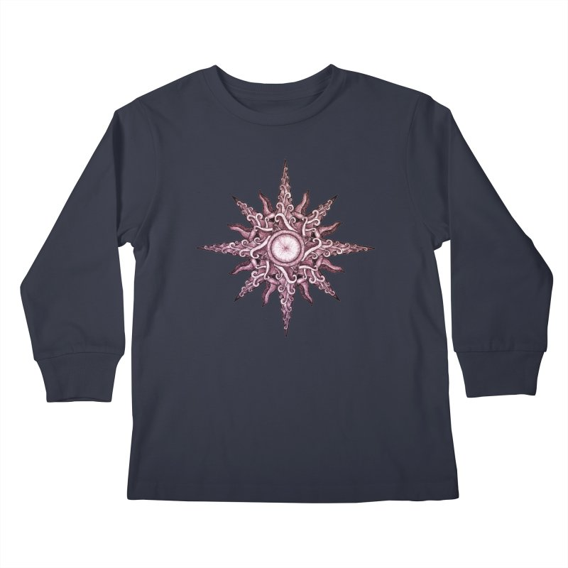 Psychedelic windrose Kids Longsleeve T-Shirt by Beatrizxe