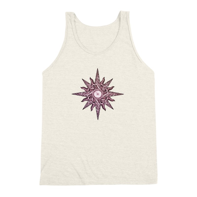 Psychedelic windrose Men's Triblend Tank by Beatrizxe