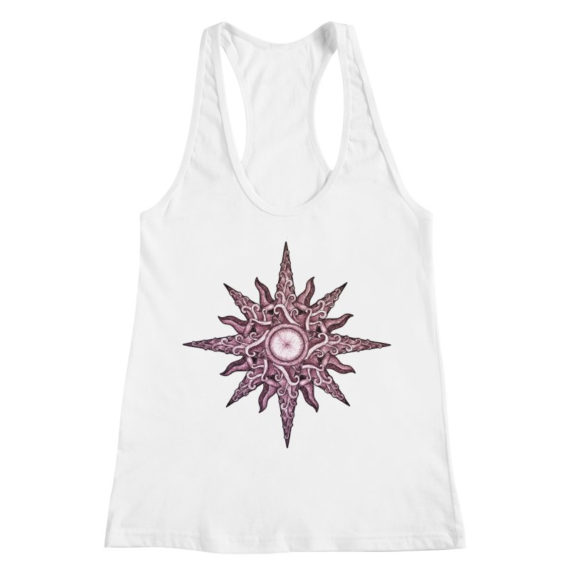 Psychedelic windrose Women's Racerback Tank by Beatrizxe