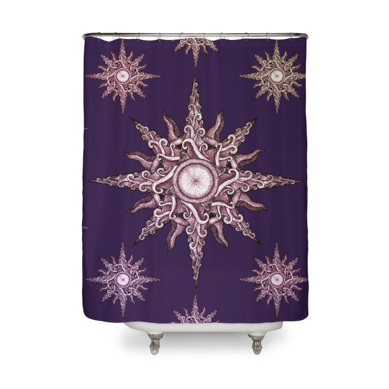 Psychedelic windrose Home Shower Curtain by Beatrizxe