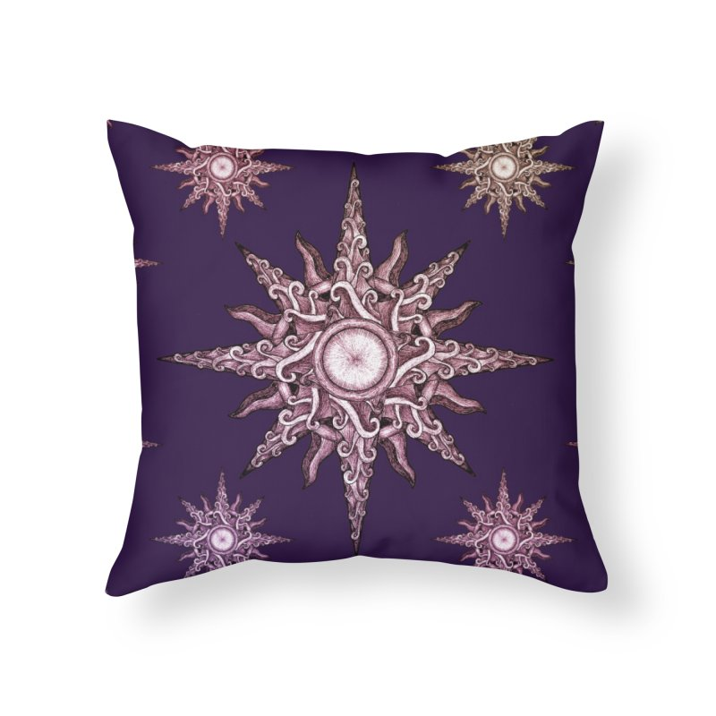 Psychedelic windrose Home Throw Pillow by Beatrizxe