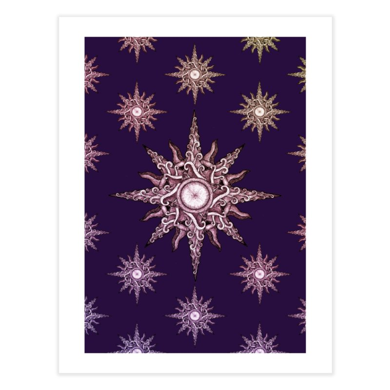 Psychedelic windrose Home Fine Art Print by Beatrizxe