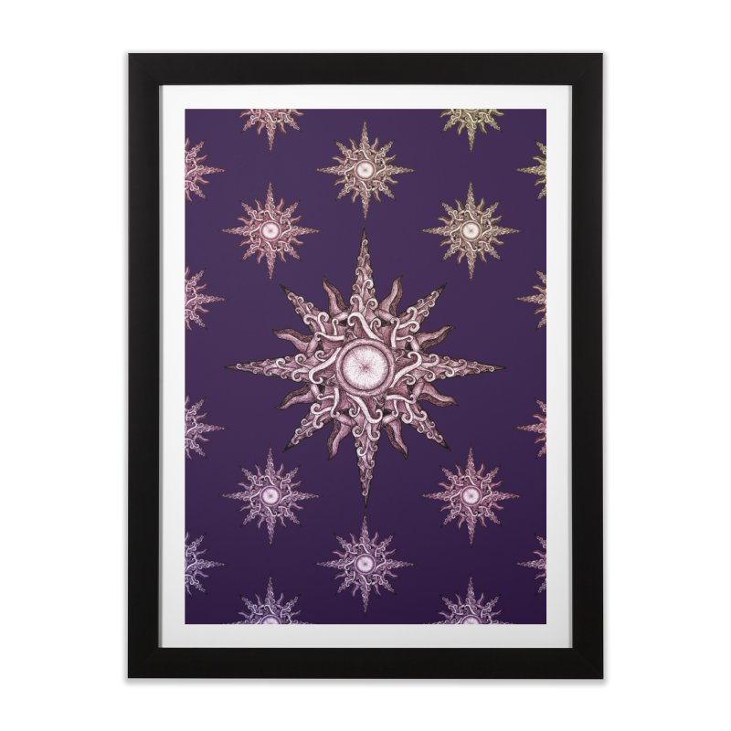Psychedelic windrose Home Framed Fine Art Print by Beatrizxe